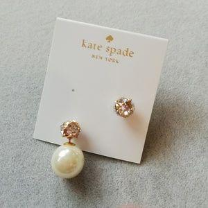 Kate Spade Dainty Sparklers reversible earrings